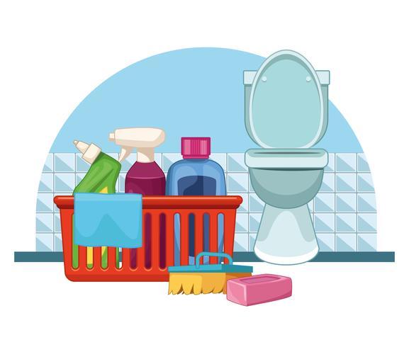 housekeeping cleaning cartoon vector