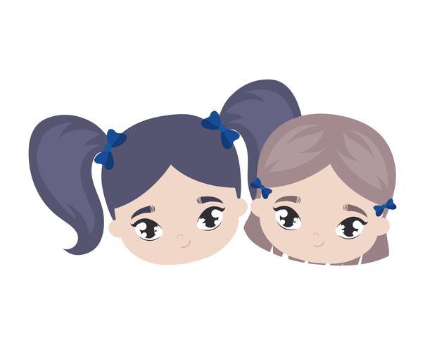 hoofden van kleine meisjes avatar karakter
