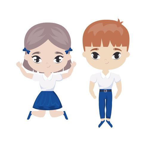 lindo personaje de avatar de pequeños estudiantes