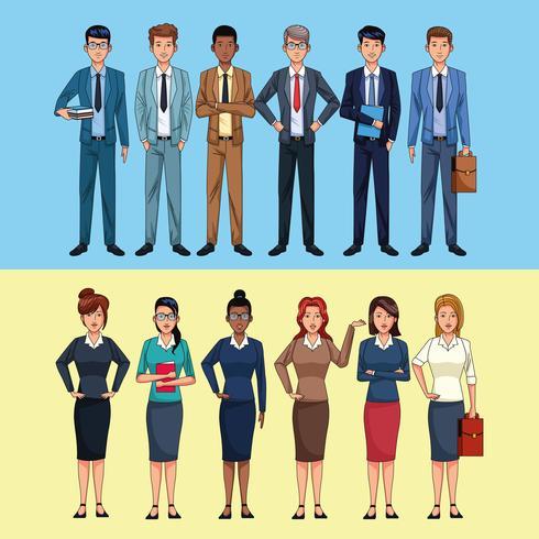 personnages de gens d'affaires