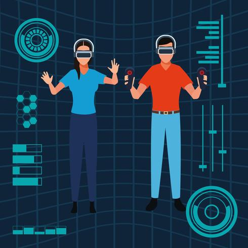 Virtual Reality-technologie vector