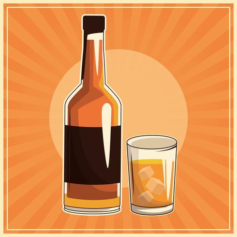 cartaz de bebida vintage