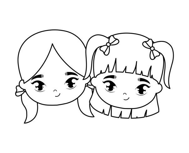 heads of little girls avatar character