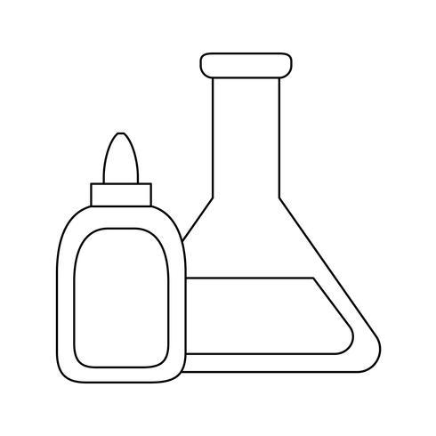 tube test laboratory with bottle glue vector