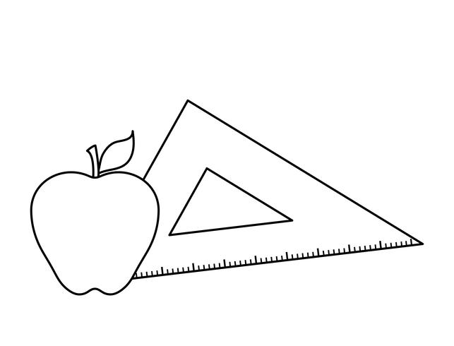triangle rule with apple fruit vector