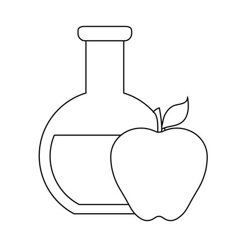 tube test with apple fruit vector