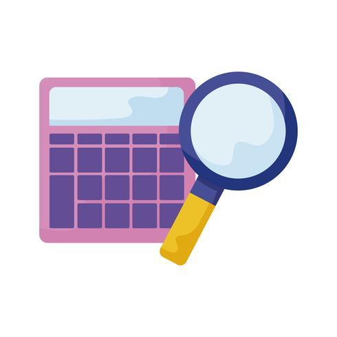 lupa de búsqueda con calculadora vector