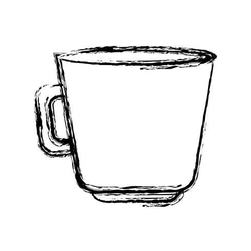 icono de la taza de café vector