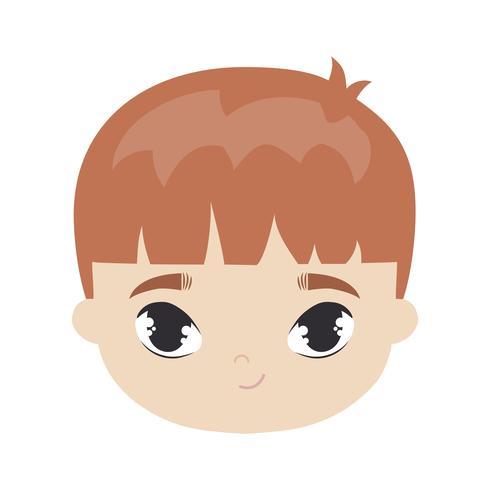cabeça do personagem de avatar menino bonitinho