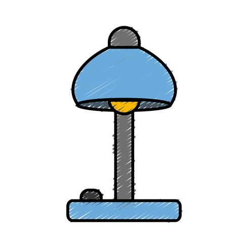 Schreibtischlampe Symbol vektor