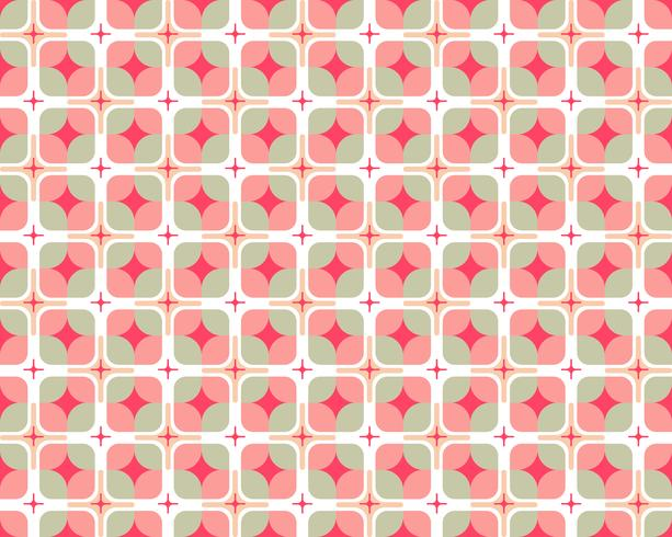 Abstraktes nahtloses Muster der bunten geometrischen runden Form auf weißem Hintergrund - Vector Illustration
