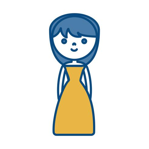 cartoon vrouw pictogram