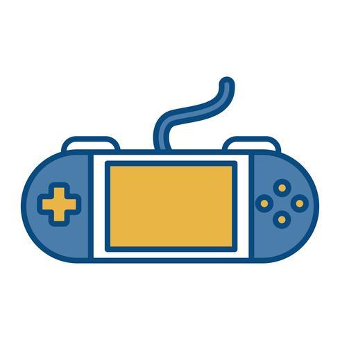 icona del videogioco portatile vettore