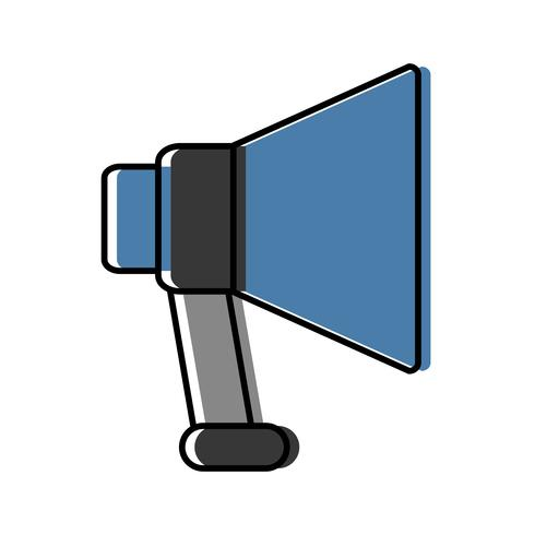 megaphone device icon vector