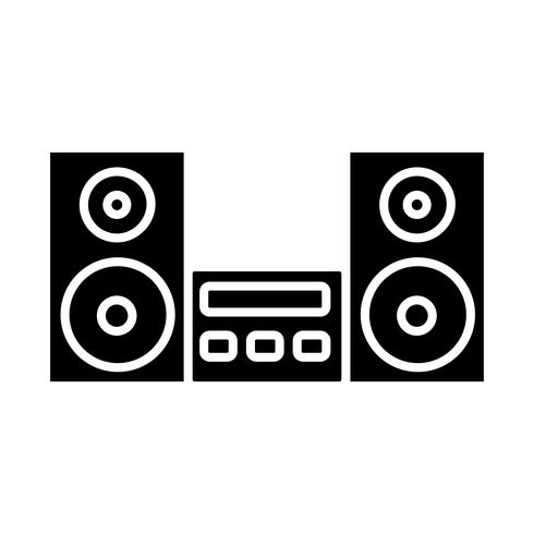 stereo systeempictogram vector