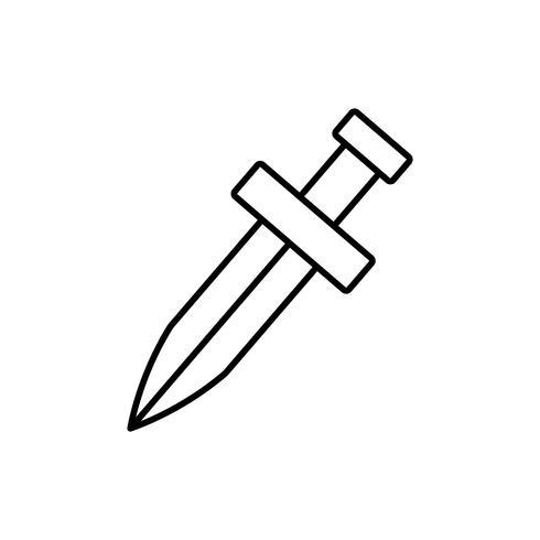 image d'icône d'épée vecteur