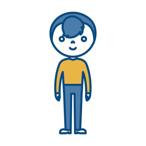 icône de l'homme de dessin animé vecteur