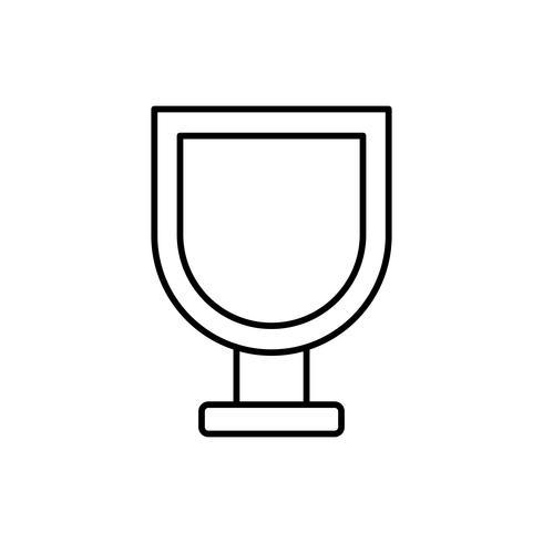icono de copa de vino vector