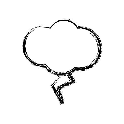 ícone de nuvem e trovão vetor