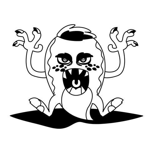 funny monster comic character avatar