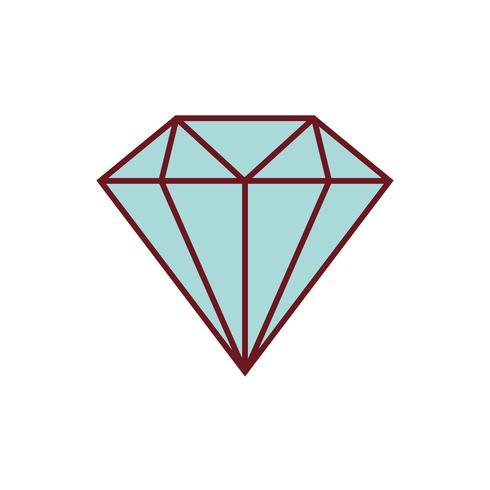 diamant pictogramafbeelding vector