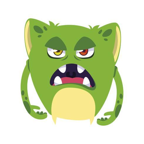 avatar di personaggio comico mostro divertente vettore