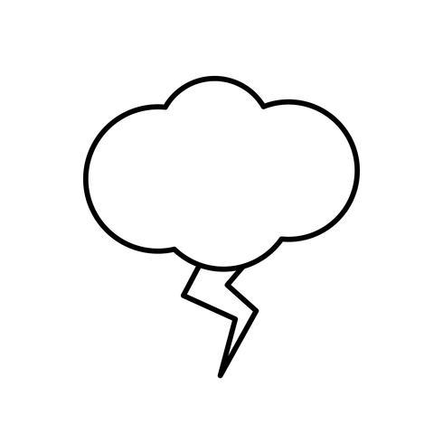 icono de nube y trueno