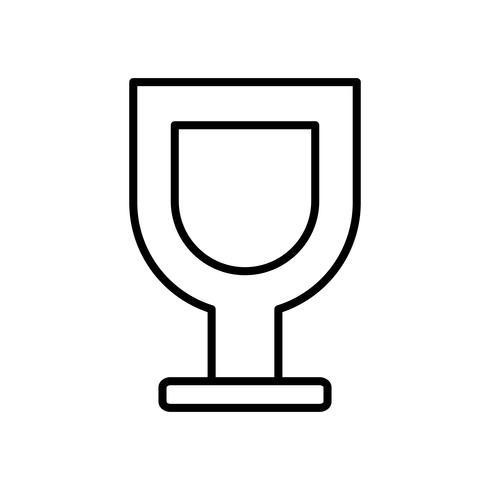 icône de verre de vin vecteur