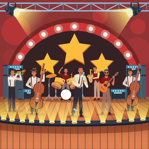 Musikband Cartoon vektor