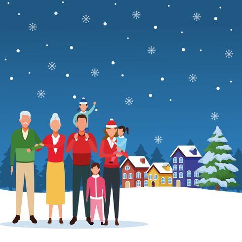 god jul på vintern