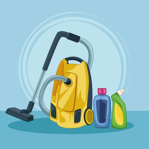 housekeeping cleaning cartoon vector