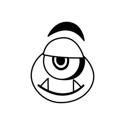 funny monster comic character avatar vector