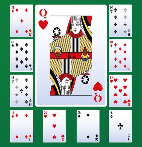Cartas de ocio de poker