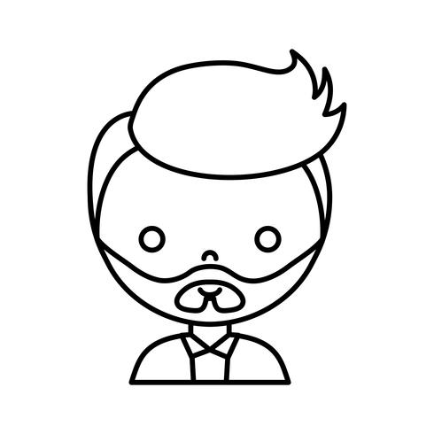 cartoon man icon vector