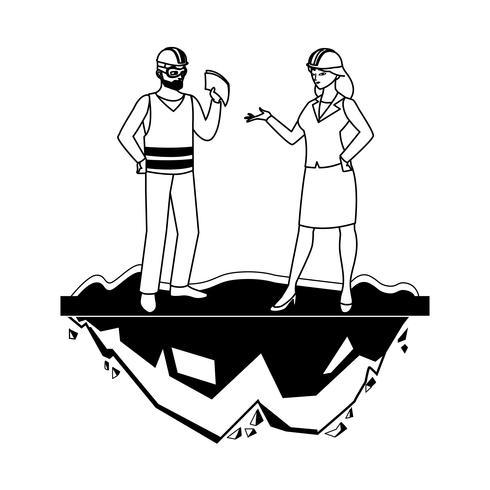 constructor masculino constructor con mujer ingeniero