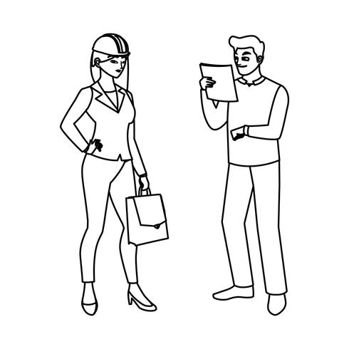 Construtor masculino Construtor com Engenheira