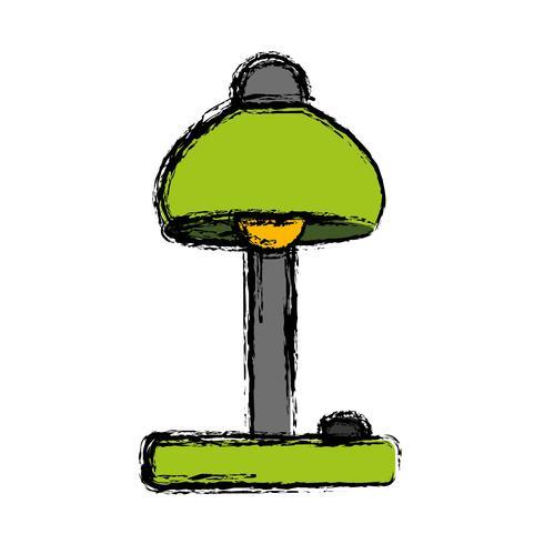 icono de lámpara de escritorio vector