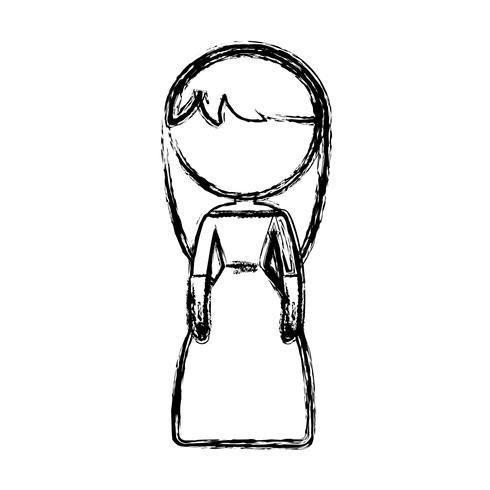 icona di donna dei cartoni animati