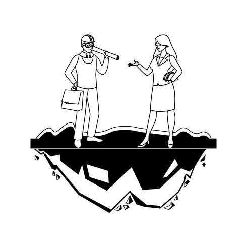 vrouwelijke bouwer aannemer werknemer met architect baas