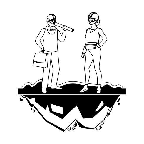kvinnlig byggare konstruktör arbetare med arkitekt chef