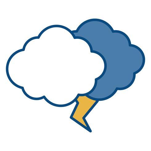 icône nuage et tonnerre vecteur