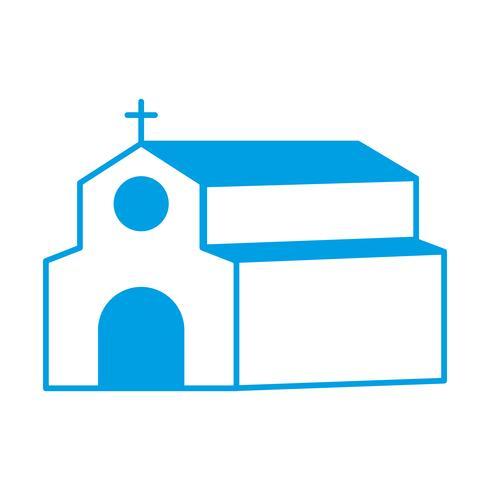 icono de la iglesia vector