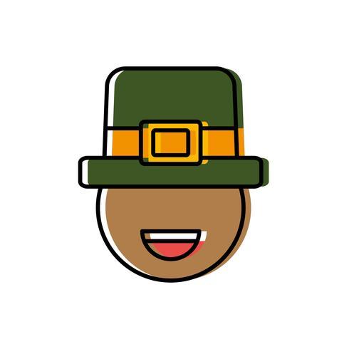 diseño de sombrero irlandés vector
