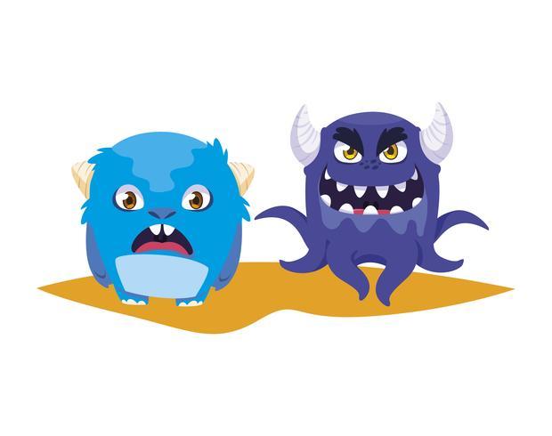 monstres rigolos quelques personnages comiques colorés