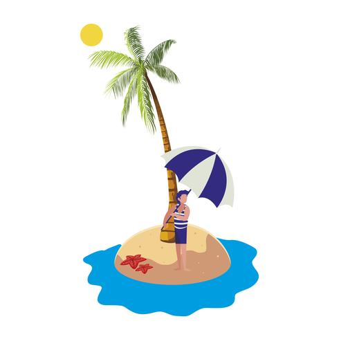 kleiner Junge am Strand Sommerszene