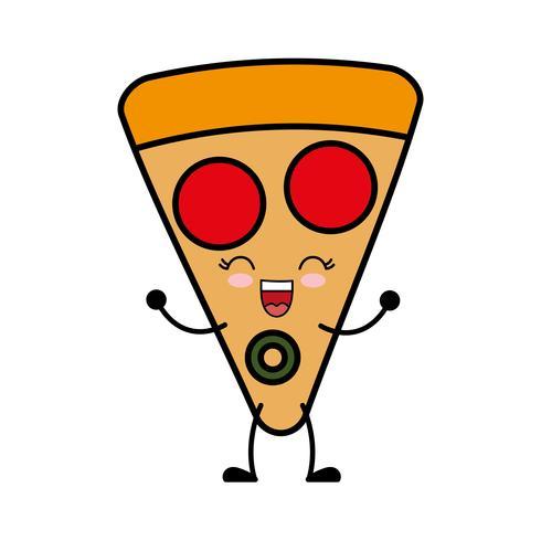 imagen de icono de pizza vector