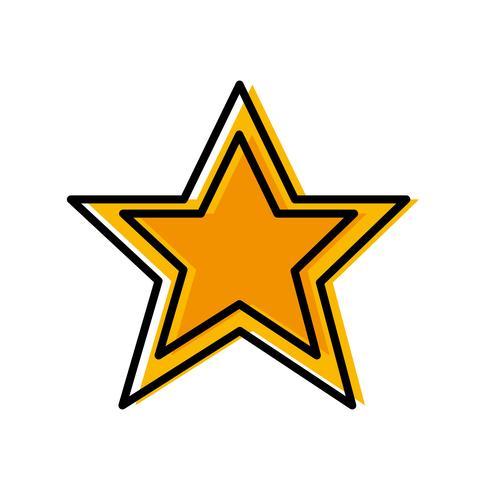 imagen del icono de estrella vector