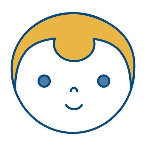 cartoon man icon vector
