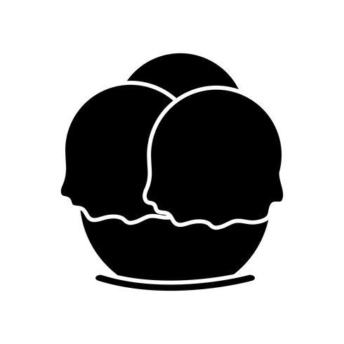 icono de helado vector