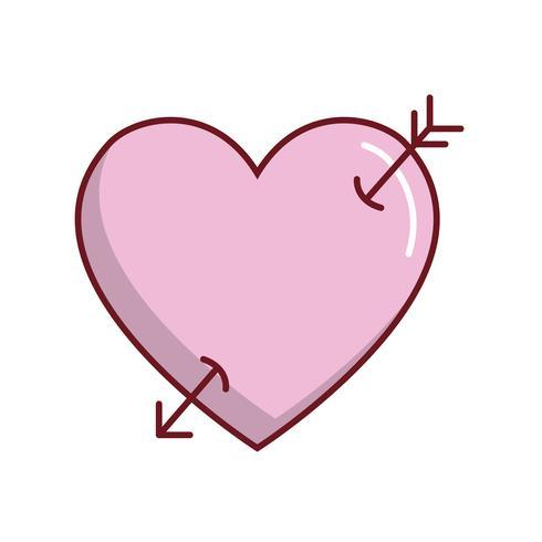Pfeilsymbol Herz